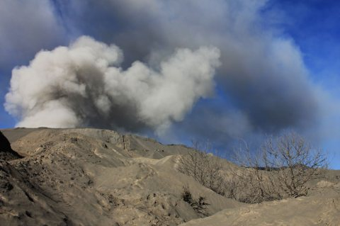 Post-Eruption Mount Bromo Volcano – East Java, Indonesia