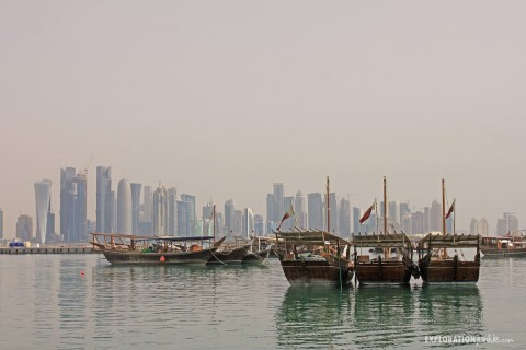 A Walk On The Corniche of Doha, Qatar