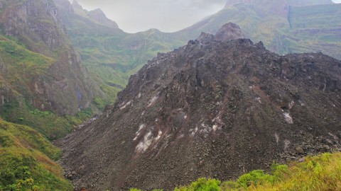 The Impressive Crater Of Mount Kelud Volcano, East Java, Indonesia