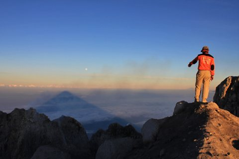 Climbing The Merapi Volcano, Central Java, Indonesia