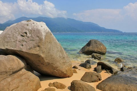 Wild Beaches, Jungle And Coral Gardens On Tioman Island, Malaysia