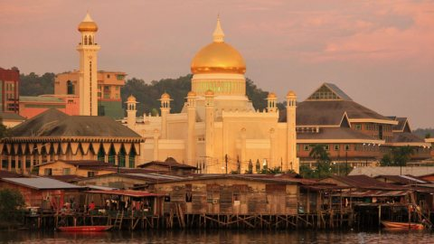 The Gold Covered Omar Ali Saifuddin Mosque, Bandar Seri Begawan, Brunei