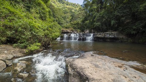 Trek To Lost River Waterfalls in Hin Namno National Park, Laos