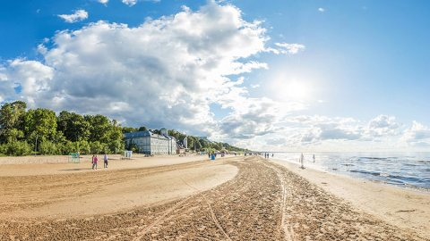 An Evening in Jūrmala, Latvia's Popular Seaside Resort