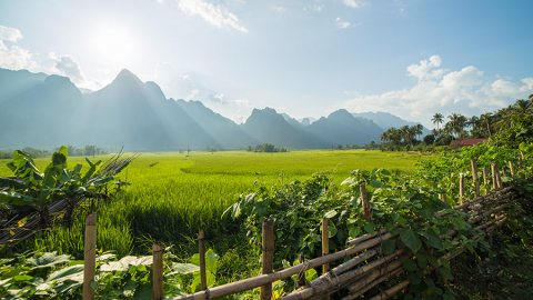 Cycling The Gorgeous Countryside of Vang Vieng, Laos