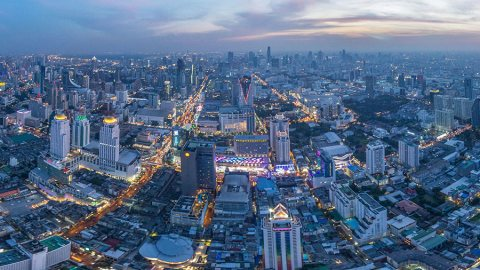 Baiyoke Tower II – Bangkok From the Sky at Sunset, Thailand