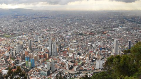 Mount Monserrate Bogota & View To The Sprawling Capital City, Colombia