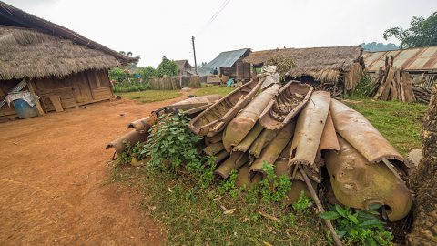 """Bomb Village"": From Killing Devices to Construction Materials, Laos"