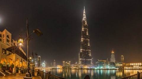 Night Walk Around Burj Khalifa, Tallest Building In The World – Dubai, UAE